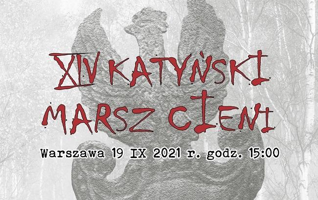 plakat XIV katyńskiego marszu cieni